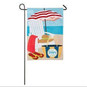 INDOOR / OUTDOOR BEACH SCENE GARDEN FLAG